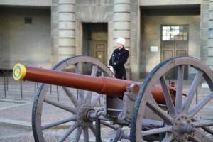Почетный караул у Королевского дворца в Стокгольме, смена, посмотреть на экскурсии с русским гидом по Стокгольму