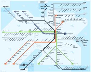 карта Стокгольмской подземки