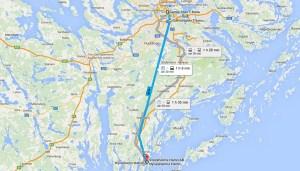 карта порта Nynäshamn от Стокгольма
