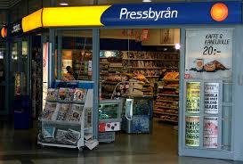 Pressbyrån магазин где продаются каточки для аренды велосипеда в Стокгольме