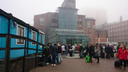 место встречи с гидом в порту Фрихамнен в Стокгольме