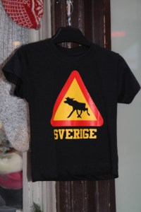 сувенир футболка с лосем из стокгольма
