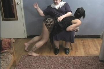 grandma spanking
