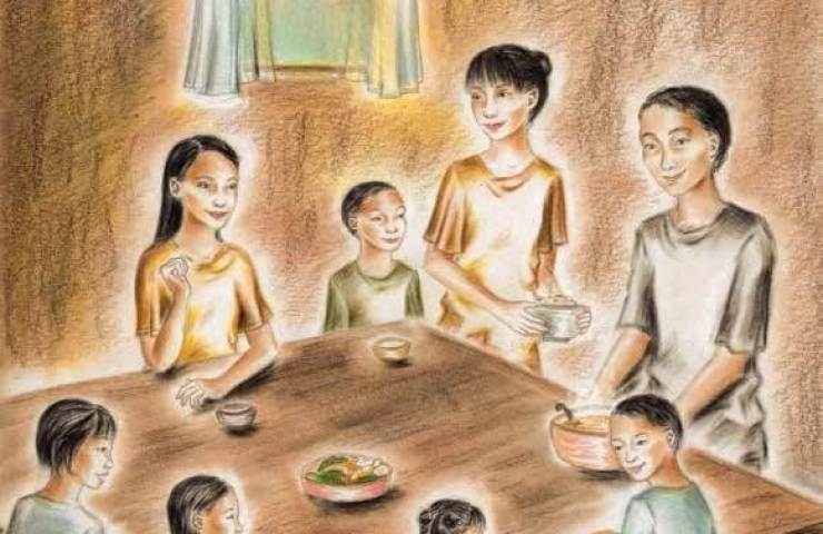 More or Less Family gather in the dining table