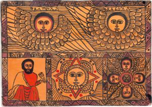 Angels, Apostles, Sun and King, by Semachw Messfn, age 10, Ethiopia