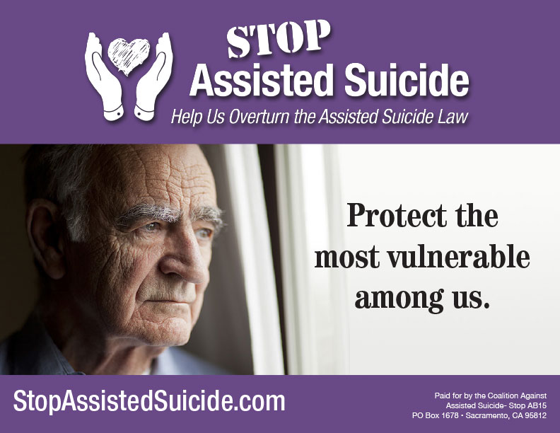 Stop Assisted Suicide Sign 1