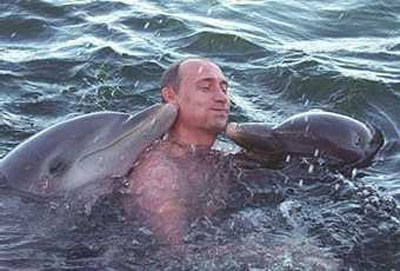 Some disgusting rich deviant (pictured) who can only achieve masturbational success by having a dolphin self-rape him.