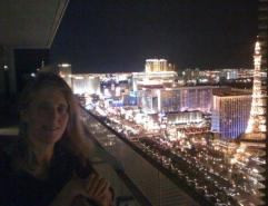 Las Vegas Strip from CXI party during VMworld with Karen of Arcola