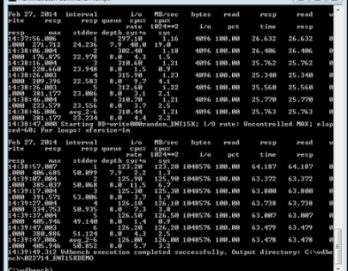 server storage I/O benchmark example