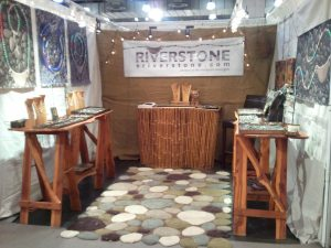 Riverstone Jewelry booth at the New York City International Gift fair.