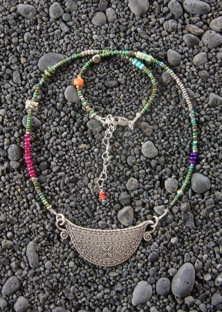 Silver Spirit Lock Necklace w/ Turquoise