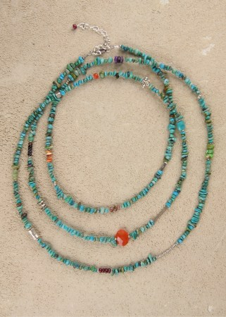 Uber Long Turquoise in Silver