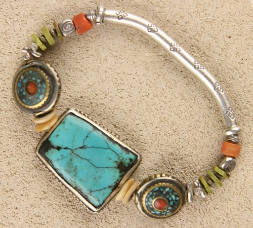 Turquoise Mammoth Stretch Bracelet