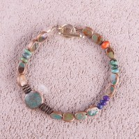 Lucky 13 Turquoise Bracelet