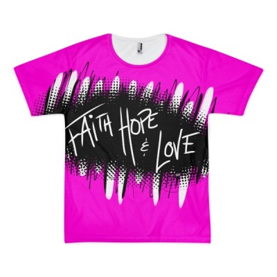 Faith Hope & Love – short sleeve men's t-shirt (unisex)