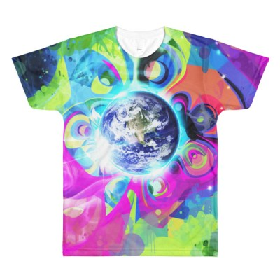 Good Morning – Abstract Trippy all-over sublimation men's crewneck t-shirt