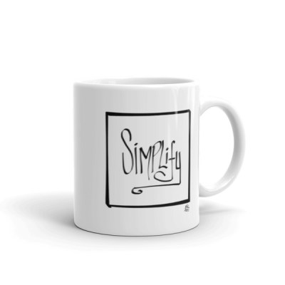 """Simplify"" Mug by Reformation Designs"