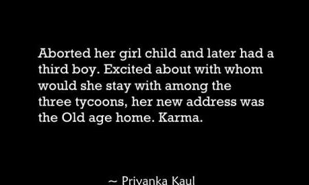 Aborted her girl child and later had a third boy