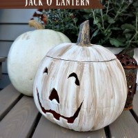 White Painted Jack O Lantern and Back Porch Update
