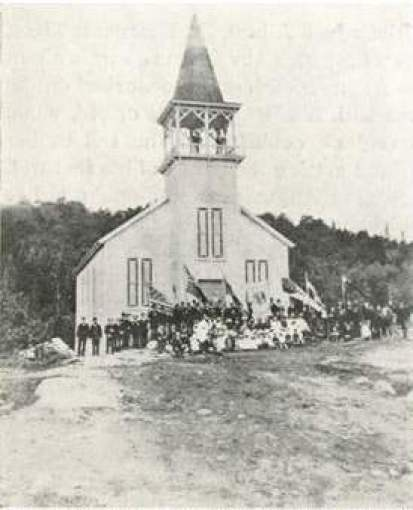 Opening of St. Paul's Church 1889 (Brown Co. Bulletin April 1922)
