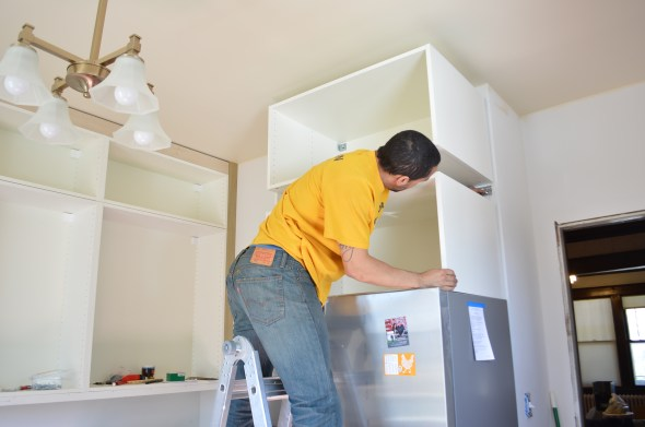 installing deep fridge cabinets