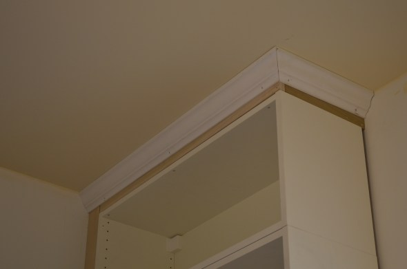 installing crown molding on kitchen cabinets after