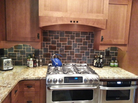 handmade kitchen backsplash