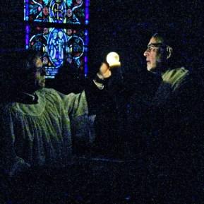 Sharing the light of Christ.