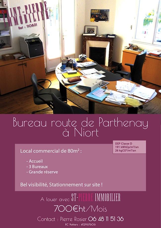 location local commercial 3 bureaux rte de parthenay 224 niort st immobilier niort