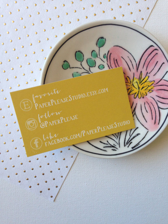 Great example of a social media business card. via PaperPleaseStudio on Etsy