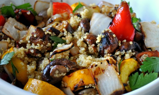 Grilled veggies with quinoa