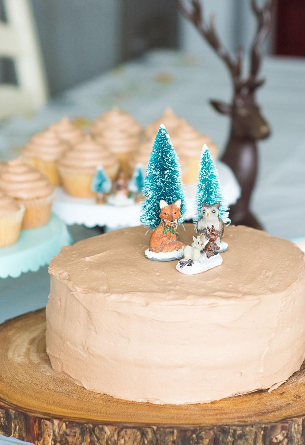 Simple Woodland Theme Cake