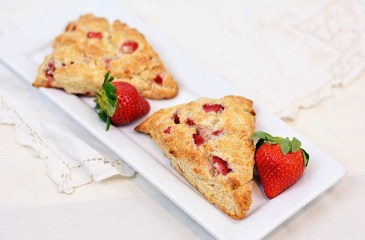Sweetheart Strawberry Scones by Cosmopolitan Cornbread