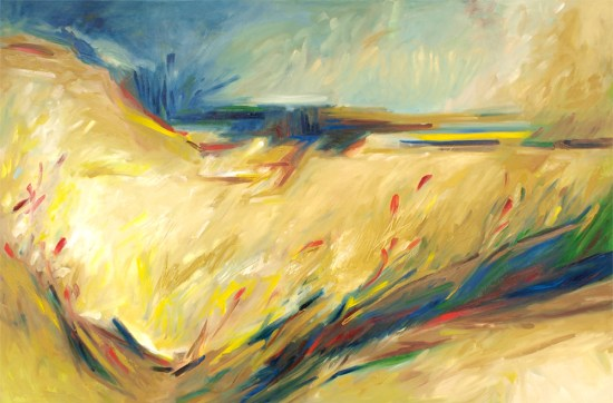 Cape Cod Abstract Landscape by Lisa Strazza
