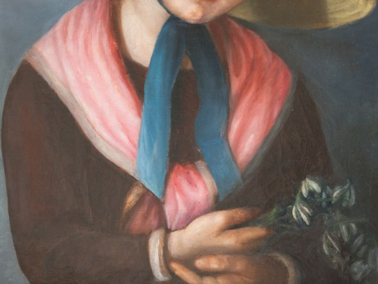 Restoring Oil Painting Portrait Restoration by Strazza Gallery Close-up