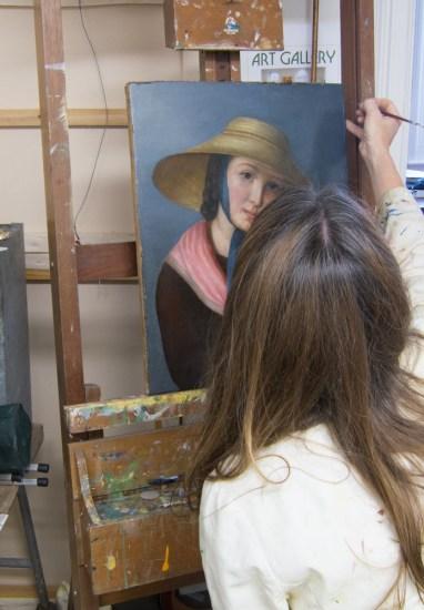 Restoring Oil Painting Portrait