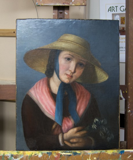 Restoring Oil Painting Portrait Restoration by Strazza Gallery
