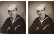 Navy Sailor Portrait Restored