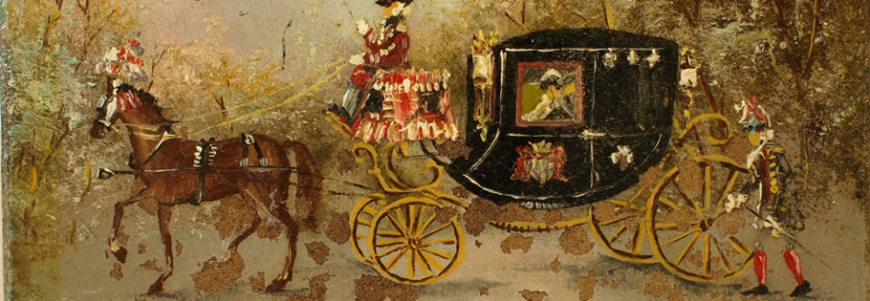 Small Horse and Carriage Painting Restored