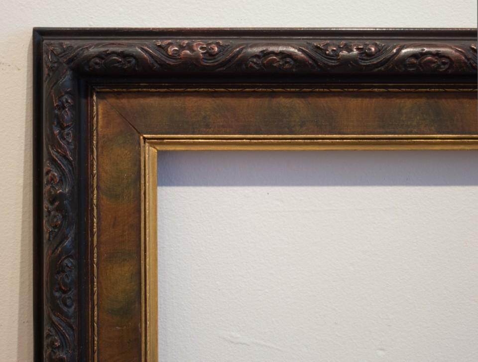 Burl frame after restoration