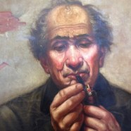 Smoking damaged painting restored