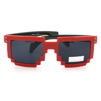pixel sunglasses in red