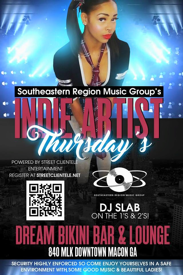 SRMG's Indie Artist Thursday's at Dreams (Downtown Macon)