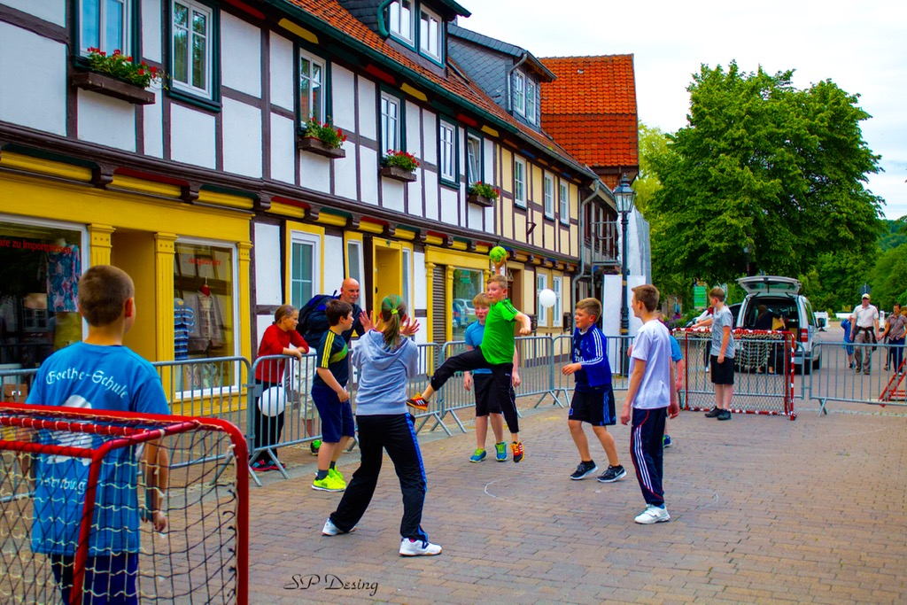 Ilsenburg Germany  city images : ... Handball Turnier zum 10. Kinder und Straßenfest im Ilsenburg, Germany