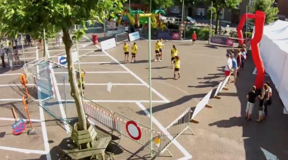 drone photo SH street handball event sporting nelo belgium 2015 5