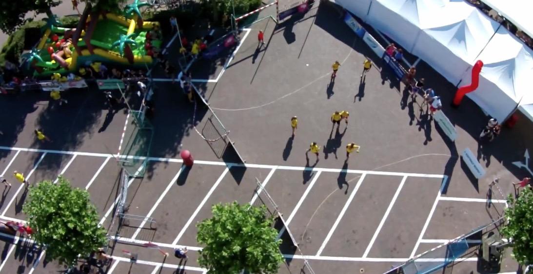 drone photo SH street handball event sporting nelo belgium 2015 6