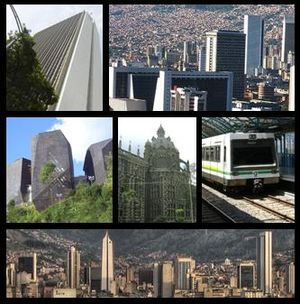 English: collage of Medellin city, Colombia´s ...