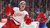 dylan larkin celebrates