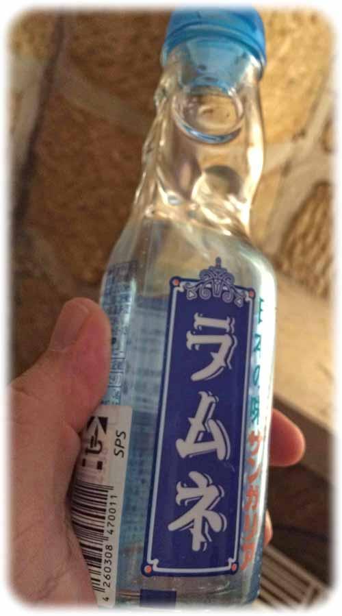 Limo mit trickreichem Verschluss: Ramune soll bei der japanischen Jugend sehr beliebt sein, hab ich gehört. Rollt über den Gaumen, ist aber nicht ganz billig: der Pflaumenwein. Foto: Heiko Weckbrodt