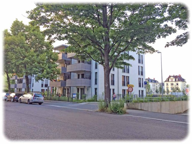 Wohnquader an der Glashütter Straße. Foto: Heiko Weckbrodt
